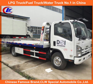 Isuzu 4*2 One Carry Two Flatbed Road Wrecker Trucks 5tons pictures & photos