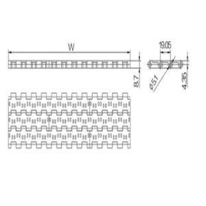Perforate Top Modular Plastic Belts (WZ1905-2) pictures & photos