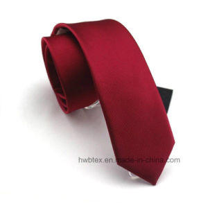 Promotion Plain Color Polyester Necktie (HWN04) pictures & photos