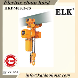 Hkdm0502SD 5ton Electric Chain Hoist with Electric Trolley Loader Hook &Clutch pictures & photos