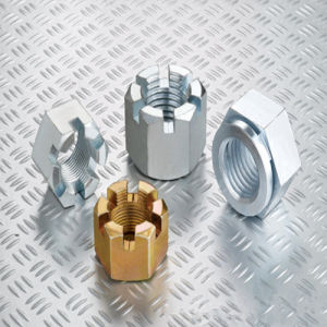 Hexagon Slotted Nuts and Castle Nuts with Metric Coarse and Fine Pitch Thread DIN935 Zp pictures & photos