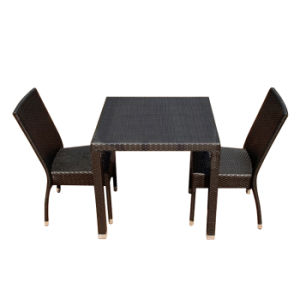 New Design High Standard PE Rattan Garden Patio Furniture Hotel Chair Table Set pictures & photos
