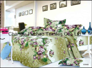 Poly /Cotton Full Size High Quality Home Textile Bedding Set pictures & photos