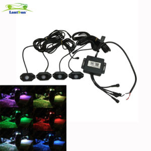 High-End Style Bluetooth Contrllor RGB LED Rock Light for Jeep ATV SUV Offroad pictures & photos