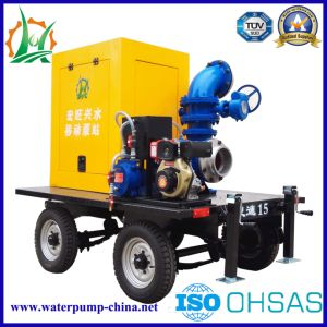 Big Draineage and Dewatering Mobile Suction Pump pictures & photos