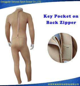 Men Skin Color Nylon Fabric Neoprene Plain Sportswear Surfingsuit