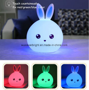 7-Color Cartoon Animal Silicone Touch Sensor Night Light for Gifts pictures & photos