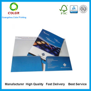 Cheap Printing Paper Folder with Business Cards