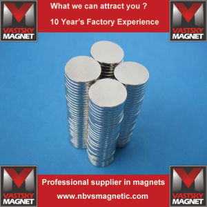 Neodymium Circular Disc Magnets Cylinder Rod Rare Earth Magnets pictures & photos