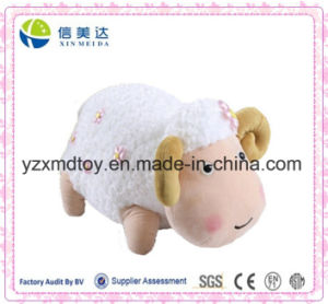 New Design Plush Cute Chubby Sheep Doll with Little Pink Flower pictures & photos