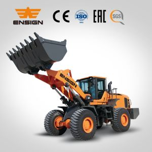 6 Ton Wheel Loader Front End Loader Ensign Wheel Loader Yx667 with Joystick and 3.5 M3 Bucket pictures & photos