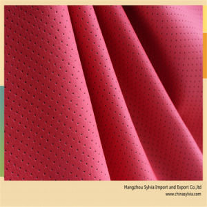 Punching Breathable Leather for Car Seat Cover pictures & photos