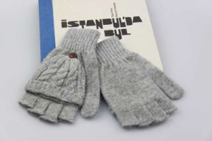 Women Acrylic Knitted Glove, Half Finger Gloves, Girls Fingerless Gloves with Pocket pictures & photos