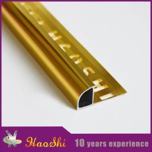 Aluminum Ceramic Tile Edging Trim in Anodized Golden Colour