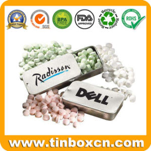 Small Sliding Tin for Mint with King-Ring, Slide Gum Tin Box pictures & photos