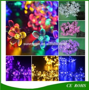 Peach Blossom 20/30/50 LED Solar String Lamp Decorative Garden Lawn Patio Christmas Party Solar Light pictures & photos
