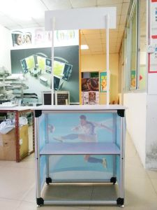 High Quality Aluminum Easy Carrying Promotion Counter pictures & photos