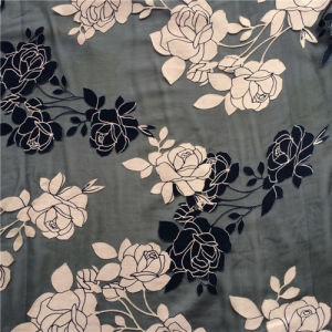 Burn out Discharge Printed Silk Opal in Floral Design pictures & photos
