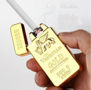 USB Rechargeable Gold Bar Electronic Arc Lighter pictures & photos