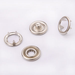 Metal Round Surface Snap Ring Button pictures & photos