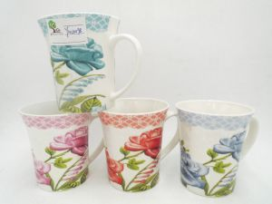 Promotional Custom Ceramic Mugs with Flaring Design-10 Oz pictures & photos