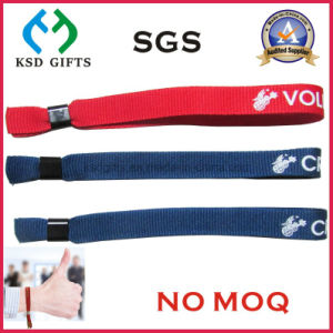 Promotional Music Festival Fabric Wristband Woven Bracelet No Minimum Order pictures & photos