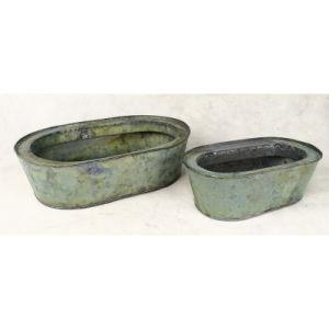 Oval Style Galvanized Antique Copper Color Garden Pot Flower Pot pictures & photos