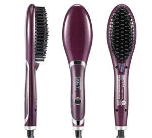 Professional Straightening Irons Portable Ceramic Hair Straightening Brush pictures & photos