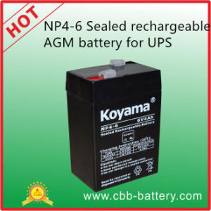 Np4-6 Sealed Rechargeable AGM Battery (6V4Ah) for UPS pictures & photos