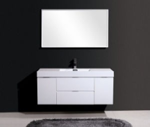 Single Wash Basin White Beautiful Bathroom Cabinet
