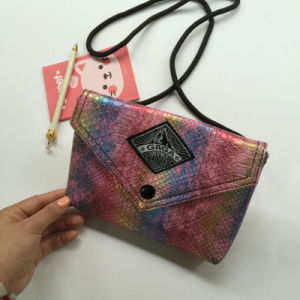 Serpentine Pattern PU Fashion Colorful Women Bag (M009-3) pictures & photos