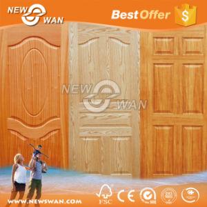 Ash Beech Oak Walnut Natural Veneered Molded HDF Door Skin pictures & photos