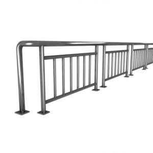 Custom Stainless Steel Stair Balustrade Pillar Hotel Shopingmall Banister Handrail pictures & photos