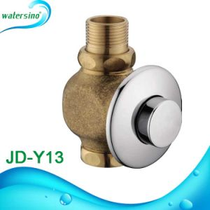 Brass Push Button Flush Valve with Round Plate pictures & photos