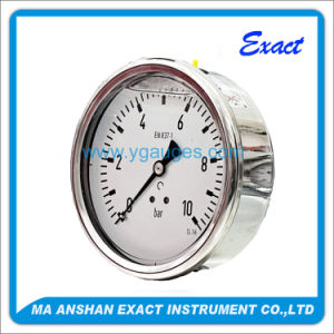 Back Connection Compound Stainless Steel Pressure Gauge pictures & photos