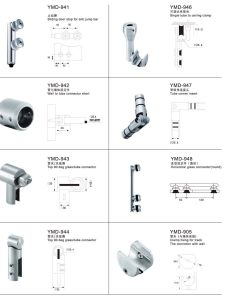 Frameless Shower Accessories for Sliding Door Fittings as Stop/Connector, /Clamp/Endpiece pictures & photos