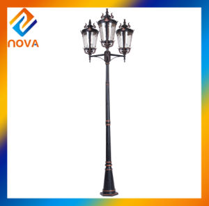 China 3 Head Clear Water Glass Waterproof Outdoor Street Light pictures & photos