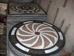 Hzx Flooring Tile Round Mosaic Medallion Marble Floor Patterns pictures & photos