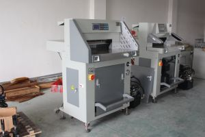 Heavy Duty (WD-520R) 80mm Hydraulic Program-Control Paper Cutting Machine pictures & photos