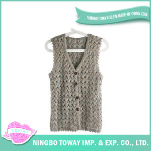 Hand Fashion Weaving Tops Ladies Crochet Knitting Vest-08 pictures & photos