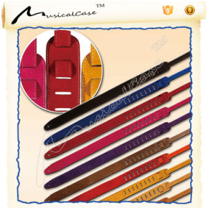 Suede Leather Guitar Strap of 2.3cm Width and 33-57cm Length pictures & photos
