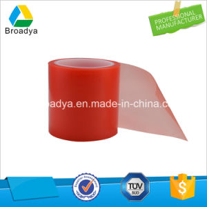 Double Sided Red Film Clear Pet Adhesive Tape (BY6982LG) pictures & photos