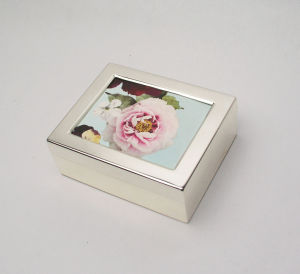 Lady Jewellery Box with Rose Pattern pictures & photos