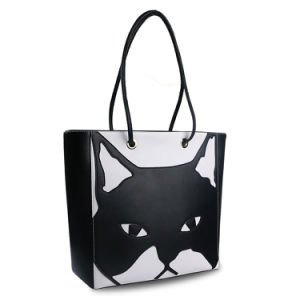 Lady Genuine Leather Handbag Shoulder Cartoon Tote Bag OEM pictures & photos