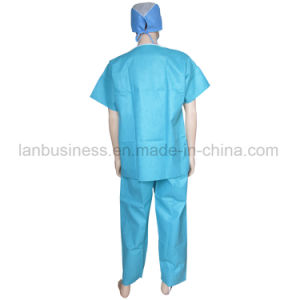 Disposable Scrub Suits Light Green pictures & photos
