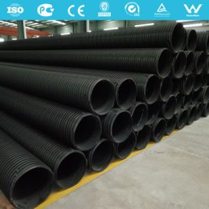 HDPE Plastic-Steel Winding Drainage Pipe pictures & photos