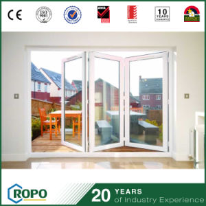 PVC Hurricane Impact Interior Double Glass Folding Door for Patio pictures & photos