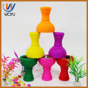 Silicone Carbon Tabacco Charcoal Bowl with Metal Holder Shisha Pipe Hookah pictures & photos