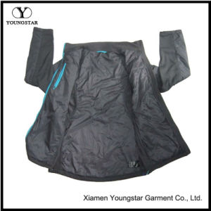 Ys-1066 Black Lined Waterproof Breathable Winter Mens Softshell Jacket pictures & photos