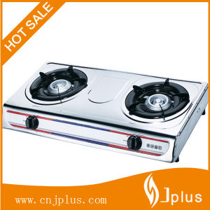 Stainless Steel Table Top Gas Cooker with Two Burners Jp-Gc204L pictures & photos